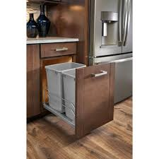 High Line Kitchen Pull Out Wire Basket Drawer Pull Out Trash Cans Kitchen Cabinet Organizers The Home Depot