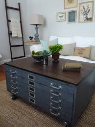 ana white coffee table plan modified for flat file cabinet world
