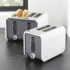 4 Slice Toaster White Studio By Dualit White Grey Toaster Crate And Barrel