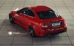 mercedes c class coupe tuning prior design pd black edition widebody aerodynamic kit for