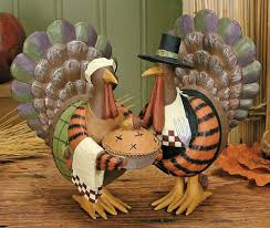 turkey holding a pie figurine harvest folk figurines
