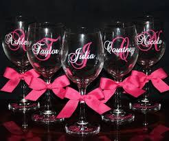 Wedding Gift Glasses Bridesmaid Wine Glasses Personalized Bride And Bridesmaid Wine