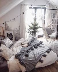 love and don t even get me started on the hammock chair what i like grey and white allows color to be added and the overall room is simple but still cozy looking