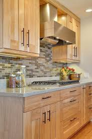 red birch cabinets kitchen traditional with granite countertop