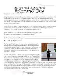 veterans day worksheets veterans u0027 day worksheet