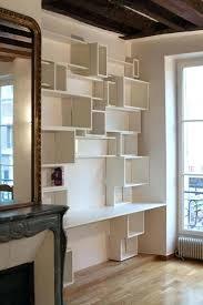 bibliothèque avec bureau intégré bibliothaque bureau integre bibliotheque design avec bureau integre