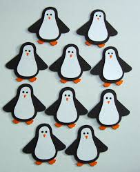10 penguin die cut christmas card embellishments for cardmaking