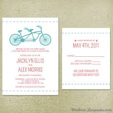 wedding invitations rsvp wedding invitation suite tandem bicycle sample set bike