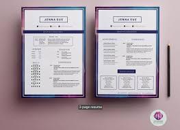 Modern Word Resume Templates Creative Resume Template Modern Cv Word Cover Letter Templates
