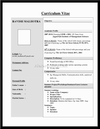 Sample Resume Templates For Freshers by Sample Resume Format For Mechanical Engineering Freshers Filetype