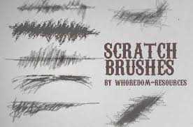 a collection of free scratch brushes for photoshop designbeep