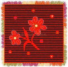 applique zig zag tapis coloré d armure avec les rayures horizontales de zigzag l
