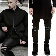 Mens Destroyed Skinny Jeans 2016 Summer Mens Destroyed Denim Jeans Thin Cool Slim Fit Hi
