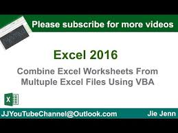 how to combine worksheets from multiple excel files youtube