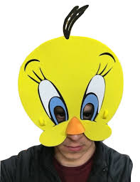 tweety bird eva foam face mask looney tunes yellow costume