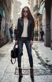 ladies black leather biker boots 16 best women u0027s leather biker jackets images on pinterest