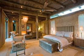 bedroom rustic bedroom decor of exposed ceiling pillars with
