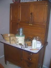 Antique Kitchen Cabinet With Flour Bin Early Oak Hoosier Style Bakers Cabinet With Flour Bin U0026 Cookie Jar