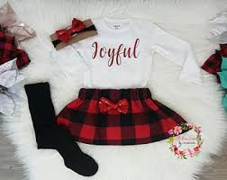 Baby girl christmas outfit  Etsy