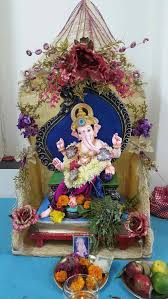 100 home ganpati decoration pin by sneha patil daxini on