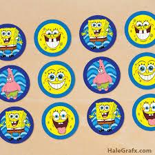 spongebob cake toppers spongebob cupcake toppers free printable spongebob squarepants