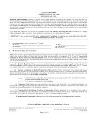 Power Of Attorney Forms Arizona by Living Will Form 7 Free Templates In Pdf Word Excel Download