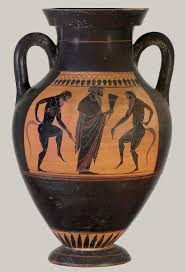 Greek Red Figure Vase Terracotta Amphora Jar Attributed To The Manner Of The