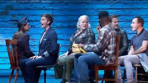 cast of come from away performs on cbs thanksgiving day parade
