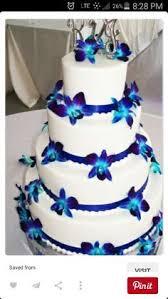 purple and blue orchid wedding cakes imspirational ideas 8 on cake