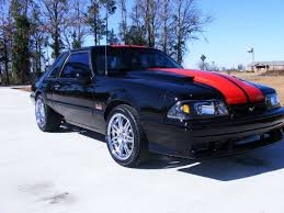 Black Mustang Red Stripes My 1987 Mustang Build Thread Ford Mustang Forum