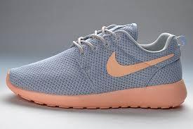nike roshe design simple design womens nike roshe run gray light pink shoes