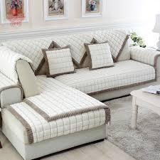 couverture pour canapé blanc gris à carreaux en peluche longue fourrure housse de canapé