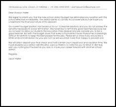 teacher termination letter termination letters livecareer