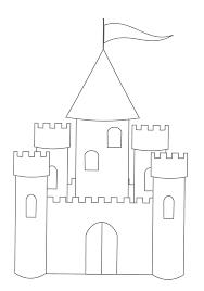 castles color kids coloring pages