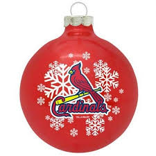 st louis cardinals small painted tree ornament