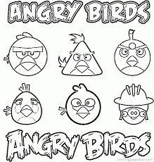 angry bird printable coloring pages coloring