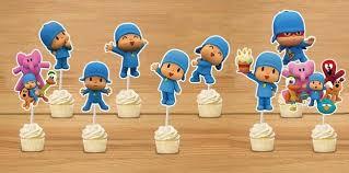 pocoyo party supplies 2018 wholesale pocoyo cupcake toppers pocoyo birthday party