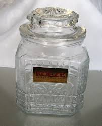 clear glass canisters for kitchen koeze glass canister pretzel design koeze labeled jar geometric
