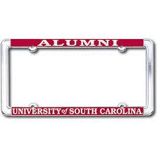 of south carolina alumni sticker of south carolina alumni chrome license plate frame