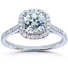 overstock engagement rings annello by kobelli 14k white gold 1 1 3ct tgw cushion cut