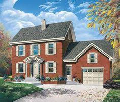 Federal Home Plans 3 Bedroom Adam Federal Home Plan Homepw26628 Front Pinterest
