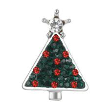 crystal 18mm ginger snap button christmas tree snap fit