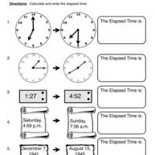 elapsed time telling time worksheet 3