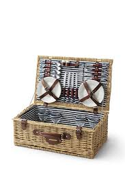 picnic basket set for 2 style picnic basket from lands end