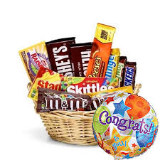 Food Gift Delivery Congratulations Candy Gift Basket At Send Flowers