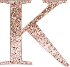 monogram letter stickers k gold glitter monogram letter stickers by roseaesthetic