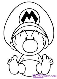 draw baby mario step step video game characters pop