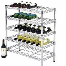 chrome storage or display floor standing metal wine rack buy wire