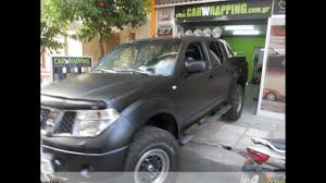 nissan safari lifted nissan navara wrapping oracal black matte youtube