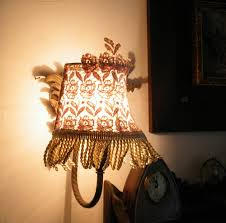 wall mounted shabby chic lamps with diy lamp shade and metal stand